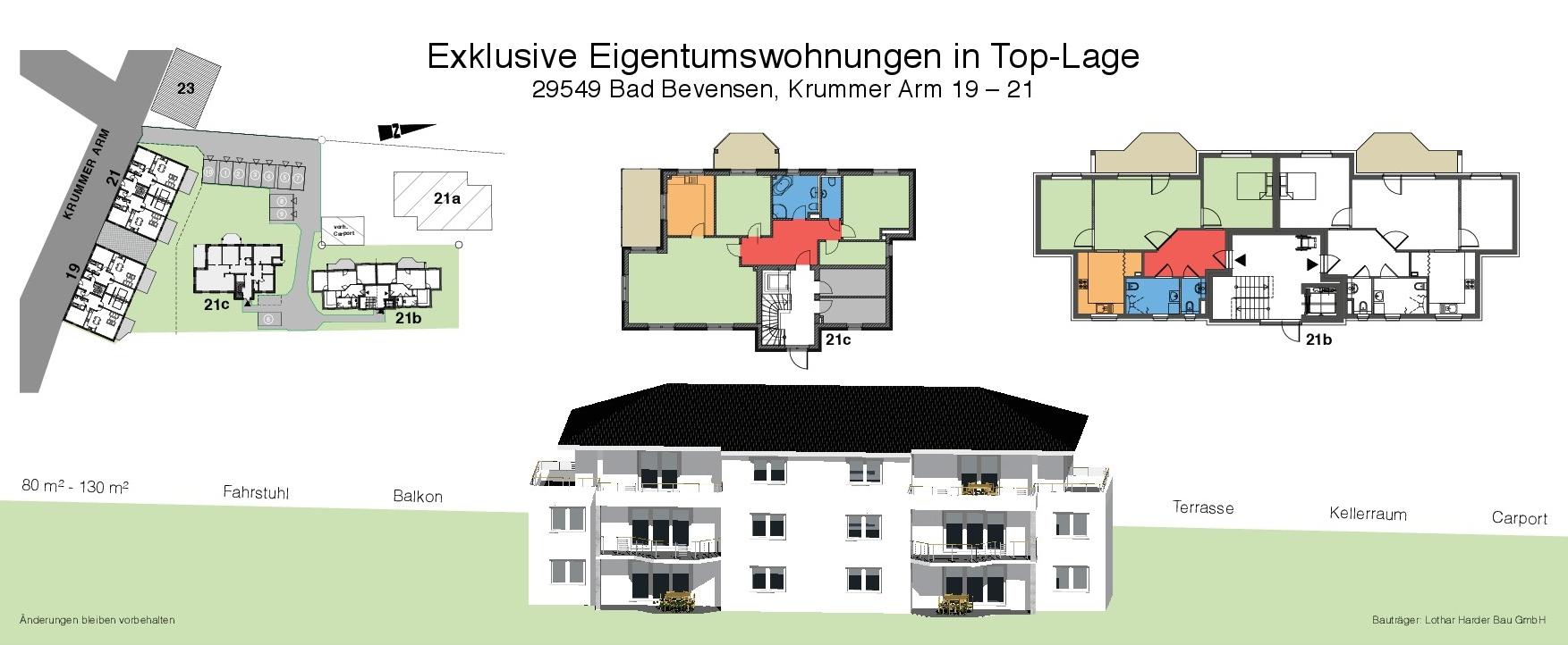 exklusive Eigentumswohnungen in Top-Lage in 29549 Bad Bevensen, Krummer Arm 19-21